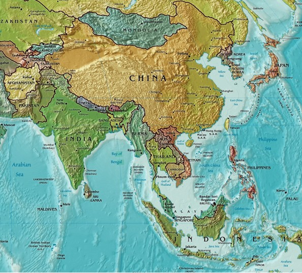 Maps Of Asia Tsiosophy Com